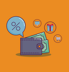 Shopping and discount design vector