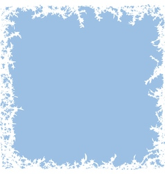 winter frost background vector image