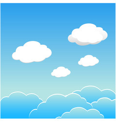 blue sky with clouds of the day esp10 vector image vector image