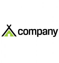 eco travel logo vector image vector image