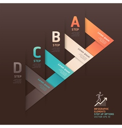 Modern arrow step options origami style vector image