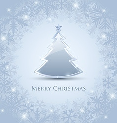 Silver Christmas tree vector image vector image