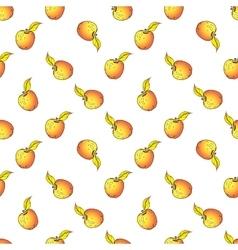 Apple seamless pattern Hand drawn vector image