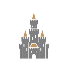 castle symbol icon on white background vector image vector image