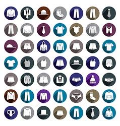 Man clothes icon set vector image