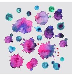Spray paint watercolor splash backgroundcolorful vector image vector image