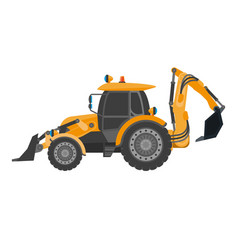 crawler continuous tracked tractor equipped with vector image