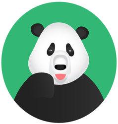 Panda icon mobile app vector image vector image