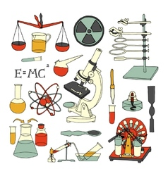 Science sketch icons vector image vector image