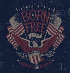 Vintage Americana Eagle Graphic vector image vector image