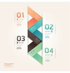 Abstract arrow infographics origami vector image