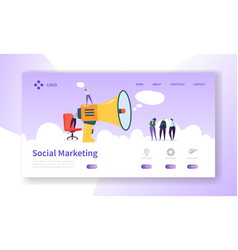 Advertising landing page for digital marketing vector