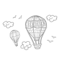 aerostat coloring page for kids vector image