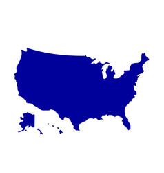 american all states map isolated vector image