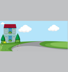 an isolated house nature vector image