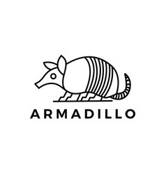 Armadillo outline logo icon vector