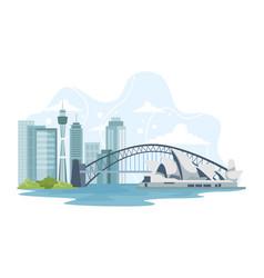 australia cityscape with landmarks vector image