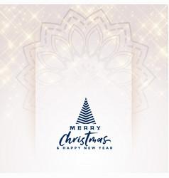 beautiful merry christmas elegant sparkles vector image