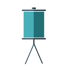 blank presentation board stand empty icon vector image