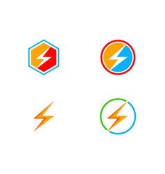 bolt logo collection vector image