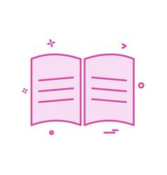 book school icon design vector image