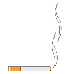 Burning cigarette or color vector