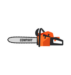 chainsaw icon for retail company on white vector image