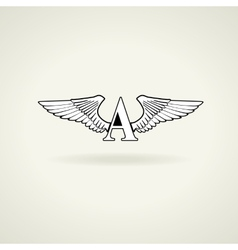 classic emblem or blank for logo vector image