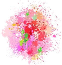 Color background of paint splashes on white vector image