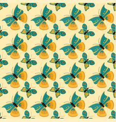 Colorful butterfly seamless pattern vector