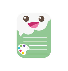 Colorful happy and tender note paper kawaii vector