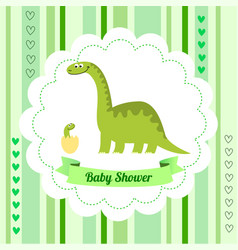 Cute card template of a baby shower invitation vector
