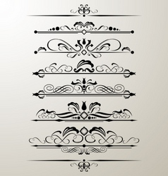 decorative page design element vector image