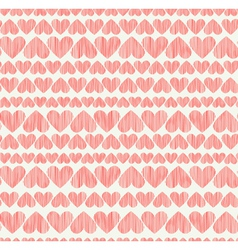 Delicate rose heart seamless background Endless vector image