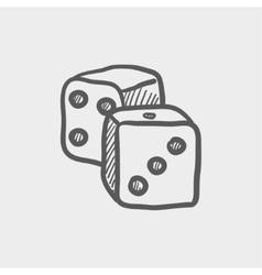 Dices sketch icon vector image