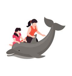 Dolphinarium isometric icon vector