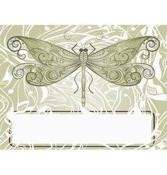 Dragonfly sketch vector