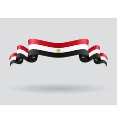 Egyptian wavy flag vector
