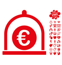 Euro standard icon with lovely bonus vector