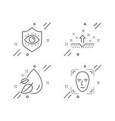 Eye protection water drop and clean skin icons vector