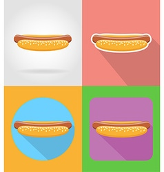 Fast food flat icons 14 vector