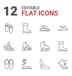 Footwear icons vector