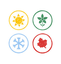four seasons year vector image