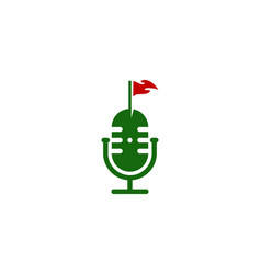 golf podcast logo icon design vector image