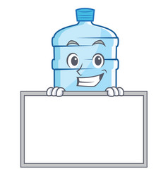 Grinning with board gallon character cartoon style vector