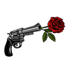 gun with rose vector image