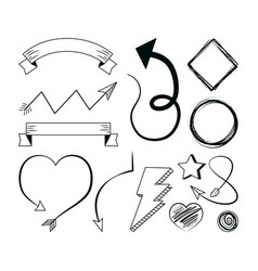 hand draw elements vector image