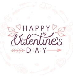 hand drawn valentines day vector image