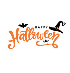 Happy halloween typography poster vector