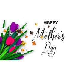 happy mothers day greeting poster vector image